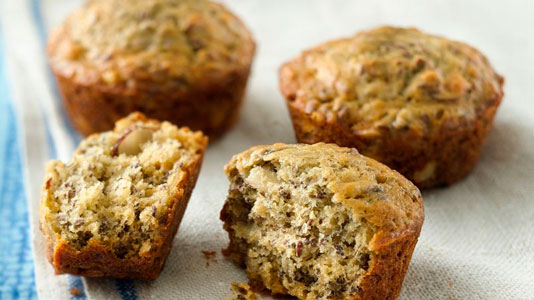 La mejores recetas con freidoras sin aceite de muffins de Banana y Almendras