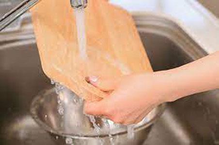 limpiar tabla de picar