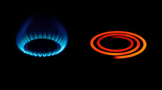 estufa de gas vs electrica